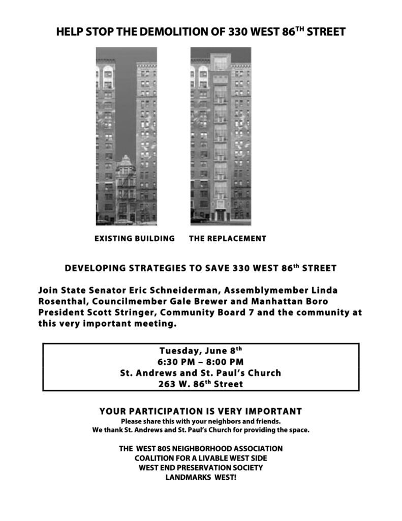 Flyer - 330 W 86th St meeting (2)