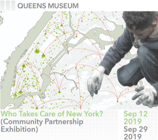 Who Takes Care of New York? is an exploration of the variety of civic groups that exist and thrive in New York City, and the ways that they care for and support their local environments. West 80s Neighborhood Association and Love Your Street Tree Day are featured in the exhibit. Opens September 12th.